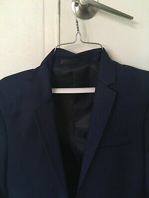 Teen boys blue suit -brand yd. Size 36 jacket and 28 trouser. Worn twice.
