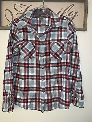 Womens S Natural Reflections Scarlet And Gray Button Up
