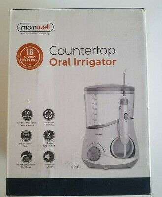 Mornwell D51 Water Flosser for Family, 600ml Electric Oral Irrigator Water Jet