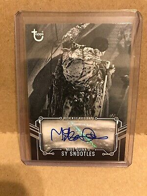 Topps 2020 Star Wars Black & White ROTJ Auto A-MQS Mike Quinn as Sy Snootles
