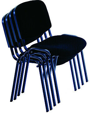 Black office stacking chairs for conference, church, visitors and waiting rooms