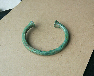 Ancient Viking bronze bracelet tracery. REALLY RARE TYPE Green Patina