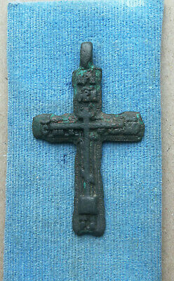 "ANTIQUE 18th CENTURY LARGE ORTHODOX ""OLD BELIEVERS"" BRONZE CROSS"