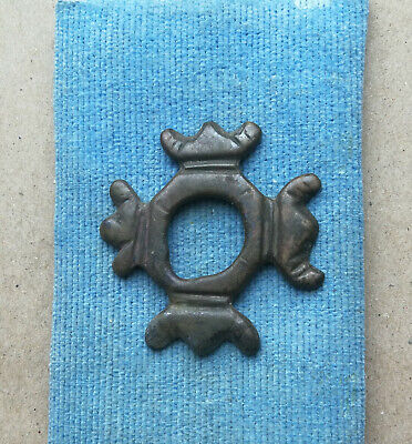 "Ancient Scythian bronze Pendant Amulet ""SNOWFLAKE"" Great Save Super Rare"