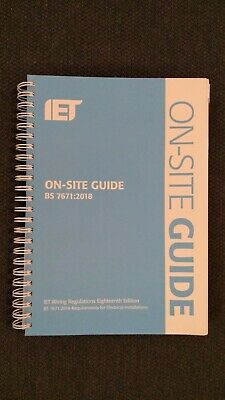 On-Site Guide BS 7671:2018 (2018, Spiral Bound, 18th Edition)