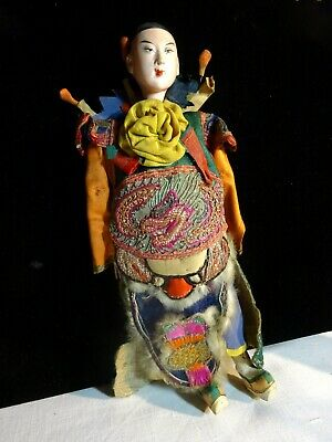 Superb Antique Chinese Opera Doll with Fantastic Costume circa 1900