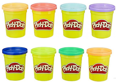 8 x Play Doh Hasbro Coloured Modelling Tubs Brand New FREE POSTAGE