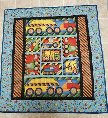 Handmade Baby/toddler boys construction vehicles Quilt