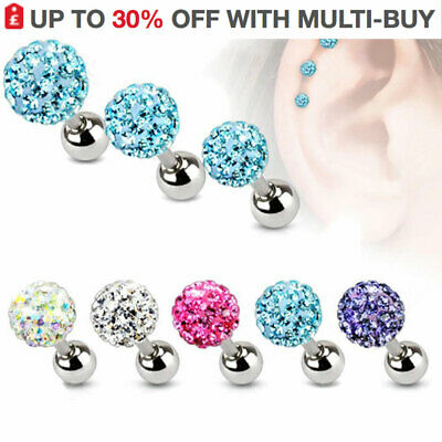 Labret Bar Ring Stud Tragus Bars Helix Monroe Nose Stud Ear Cartilage Bar UK