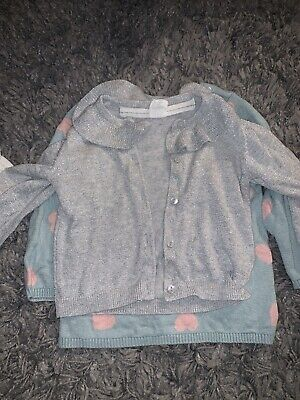 Baby Girls 6-9 Months Clothes Bundle Autumn Winter, H&M Three Items. Used