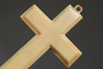 ⭐ antique crucifix ,religious cross ,hand carved⭐