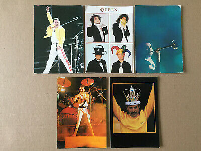 Job  Lot  5  Cartes Postales   QUEEN    FREDDIE  MERCURY