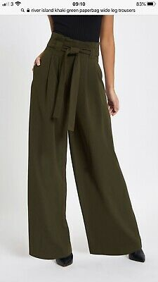 River Island Paperbag Wide Leg Trousers Bnwt Size 16