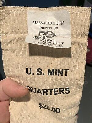 2000 D South Carolina Quarters $25.00 U.S Mint Bag-unopened with unopened box