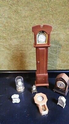 7 doll house assortment job lot of  mixed clocks items 1.12th JB