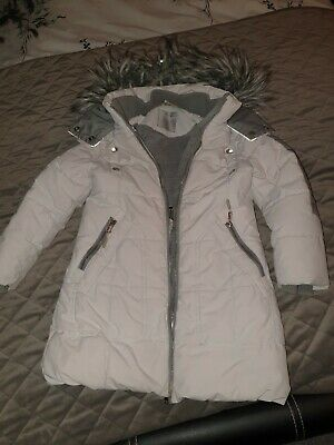 Next Girls Coat 7-8 Years. Reflective detail and shower resistant