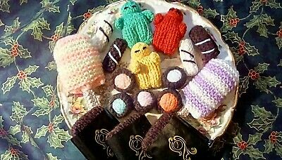 17 Hand Knitted Pick and Mix Sweets