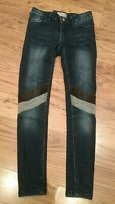 Girls Next Skinny Jeans Blue With Stripes Age10 Years Height 140cm