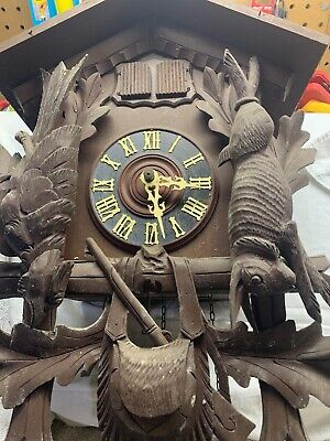 German Black Forest carved  CUCKOO CLOCKWest Germany