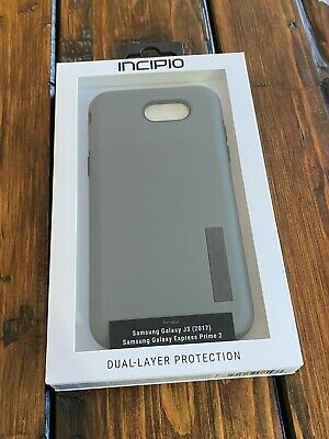 Genuine Incipio Samsung Galaxy J3 2017 Express Prime 2 Gray Case RARE Brand NEW