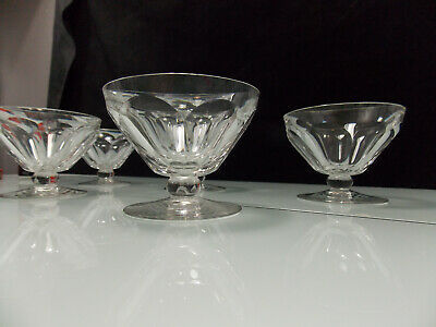 Lot 12 - Baccarat- 6 Coupes A Champagne Du Service Talleyrand- H 7.5 Cms