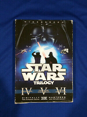 Original Theatrical Release Star Wars Trilogy 6-Disc Box Set Widescreen DVD 2008