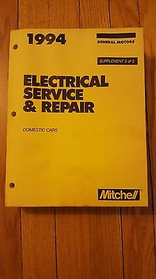 1994 Mitchell Electrical Service & Repair Manual Gm Isbn 0847014371