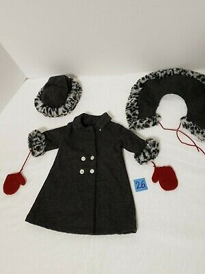 American Girl Doll Nellie Christmas Holiday Winter Coat