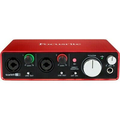 Focusrite Scarlett 2nd Generation 2i2 (2-in / 2-out) USB Audio Interface New