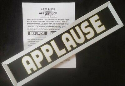 """Pro """"Applause"""" to """"Applesauce"""" changing sign! Great for magicians, clowns, etc."""