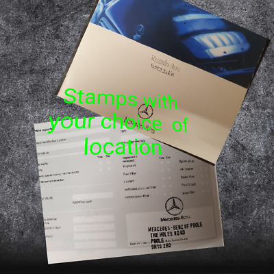 Mercedes Service History Book (Stamped) Suitable For All Mode Service Book