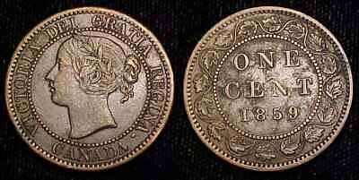 CANADA 1859 Large Cent VF+