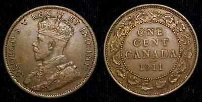 CANADA 1911 Large Cent XF