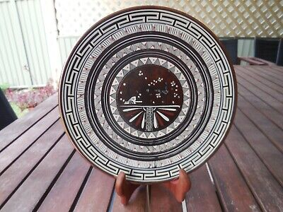 Antique Numbered Greek Copper Collector's Plate/Wall Hanging
