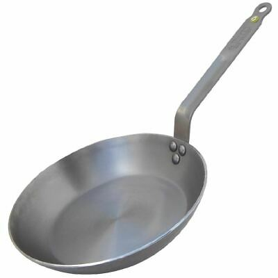 De Buyer Mineral B Black Iron Induction Frying Pan 280mm Silver Colour