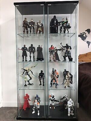 LEGO Star Wars Buildable Figures Plus 1 Ikea Display Cabinet (COLLECTION ONLY)