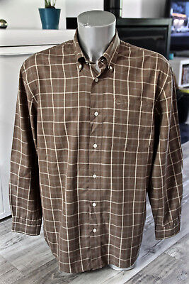 Pretty Shirt Brown Chequered Man Timberland Size Very Great M Real XL