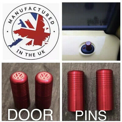 VW Golf Polo Beetle Jetta Caddy Lupo Passat T5 T6 Red Door Lock Pull Pins