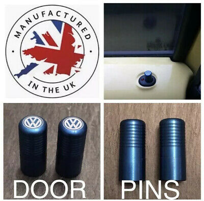 VW Golf Polo Beetle Jetta Caddy Lupo Passat T5 T6 Blue Door Lock Pull Pins