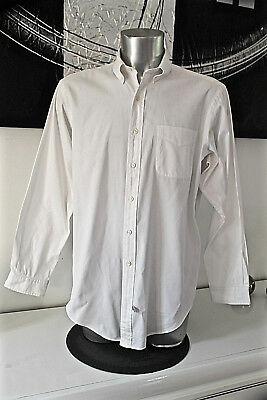Pretty White Shirt Polo by Ralph Lauren Andover Size 16 1/2 Mint