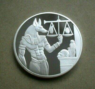"""Free P&P Ancient Egypt """"The Hour Watcher"""" Silver Plated Medal/Coin"""