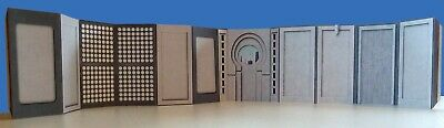 2nd Cloud City Hallway Diorama Walls 2 pack Star Wars Hasbro Kenner Ships Free
