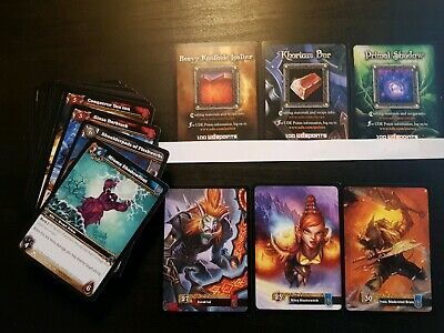 World of warcraft 56 Card Lot Includes Unused Codes And Scourgewar Cards