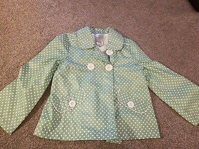 good used condition girls age 6-7 green spotty jacket George at Asda