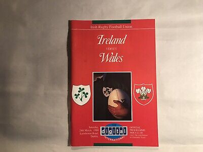 Ireland V Wales 1990 Rugby Union Programme