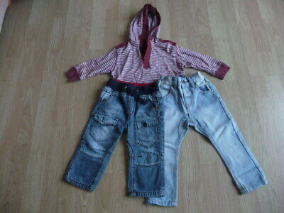Next boy`s bundle 2 pairs of jeans & hooded top age 9-12 months