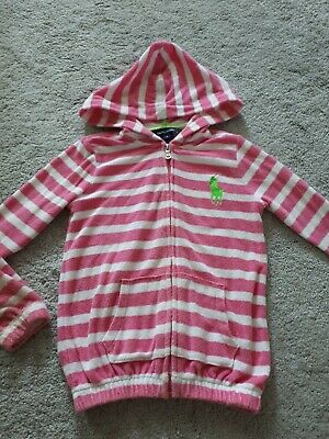 ralph lauren polo hooded top. age 6 years.  girls designer clothing