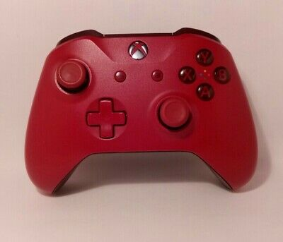 Official Microsoft Xbox One S (1708) Red Wireless Controller.