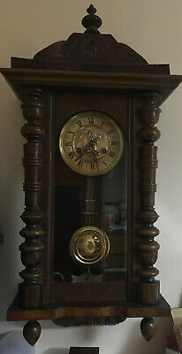 Vienna/German Antique Wooden Cased Wall Clock