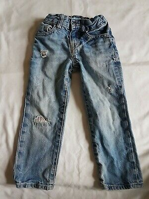 Baby Gap Jeans Age 3 yrs. in faded blue. distressed look. straight fit.